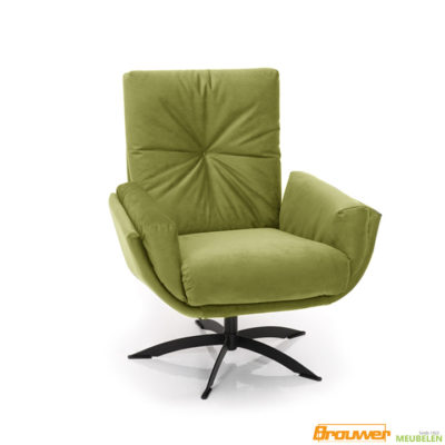 fauteuil 1443 groen draaistoel lage rug