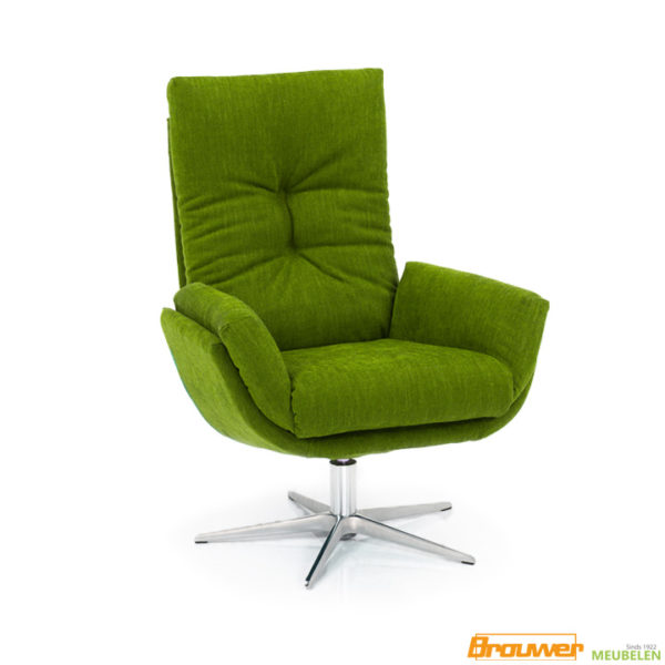hjort-knudsen-1443-groene-fauteuil-draaistoel