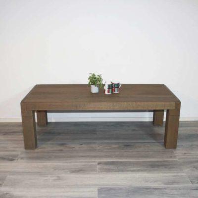 salontafel 140 x 70 cm massief eiken cbm 361 olijf