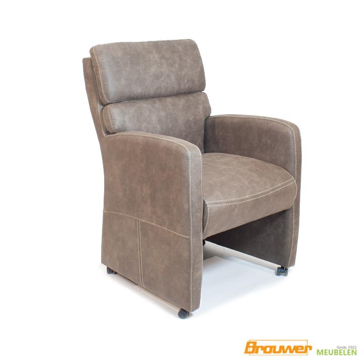 armstoel greg stoel op wieltjes bruin