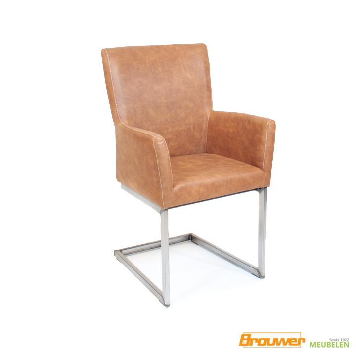 eetkamerstoel-bruin-industriele stoel