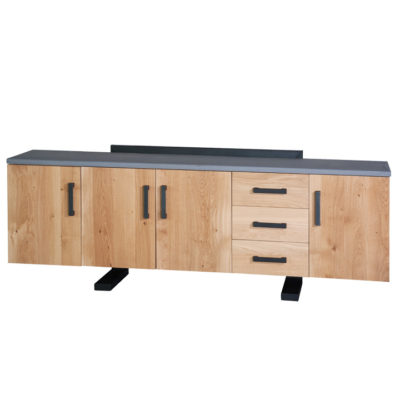 industrieel dressoir hout beton look concrete
