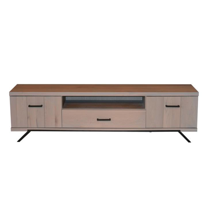 tv meubel-1500-serie-robuust-eikenhout-bergruimte
