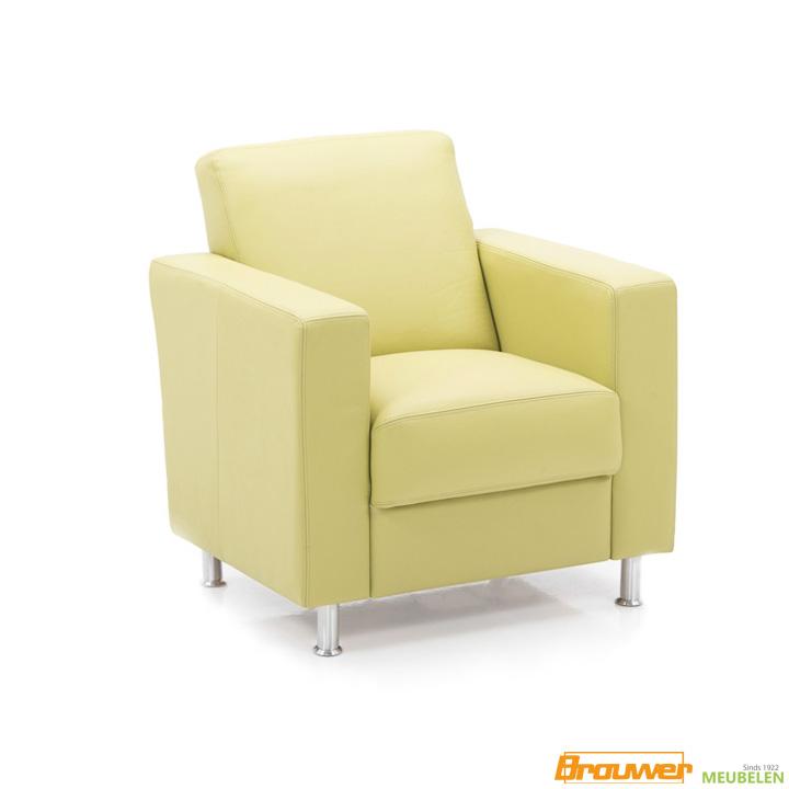 fauteuil geel leer