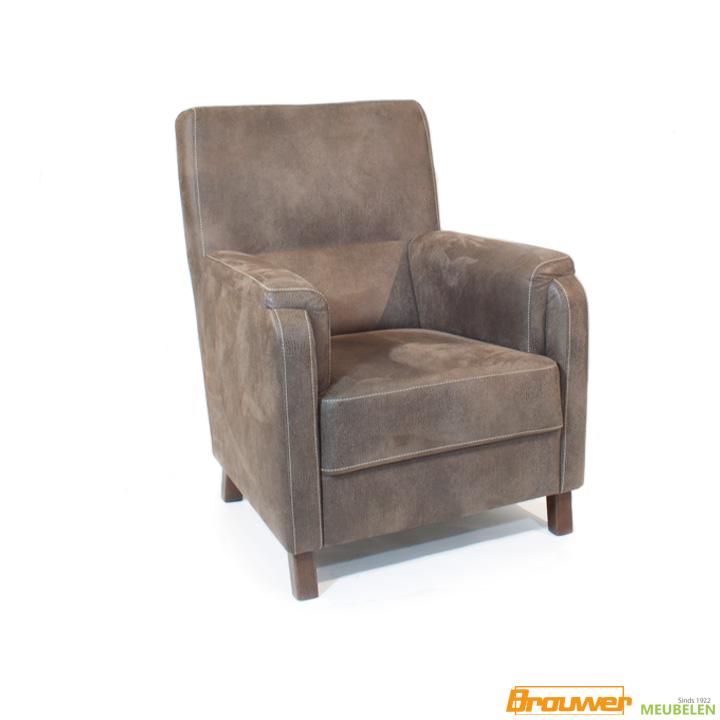 boa-fauteuil-bruin-hoge-rug-gazelle-leder