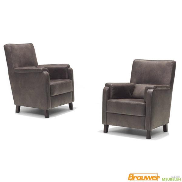 eigentijdse fauteuil klassiek bruin boa fauteuil