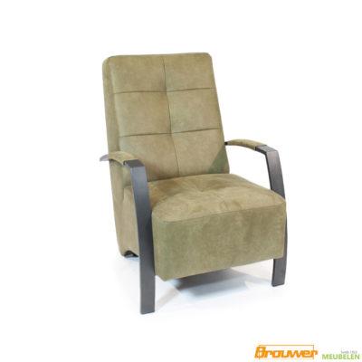 industriële stoel stoere fauteuil groen