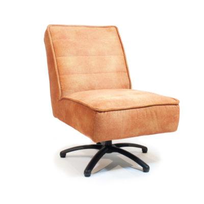 fauteuil zonder armen draai oranje