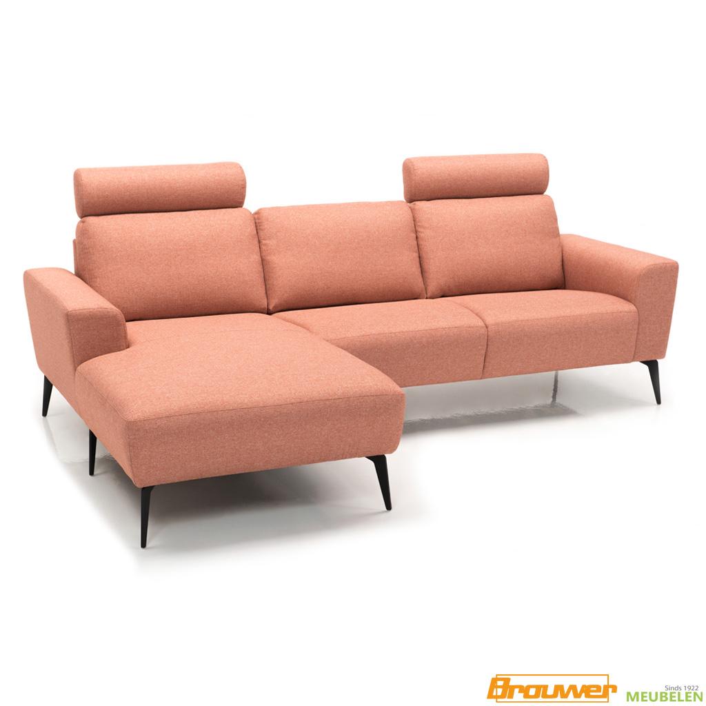 roze bank longchair chaise lounge hoge poten zwart
