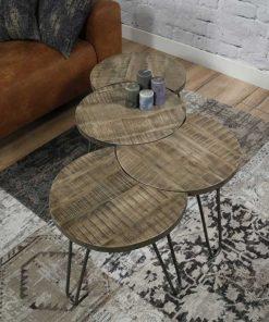 salontafel-set-leem-mangohout