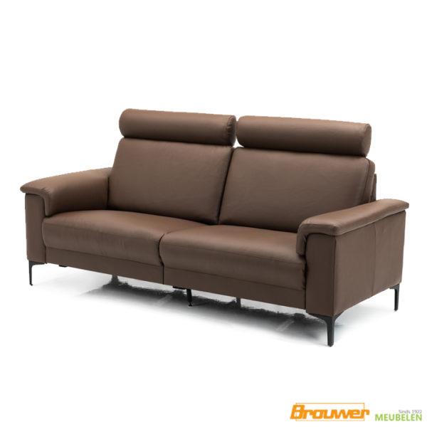 3 zits bank leer bruin relaxbank hoge rug