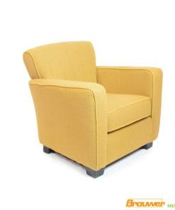 fauteuil geel met biesje