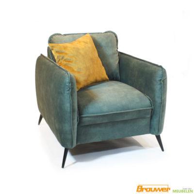 velours fauteuil velvet groen donkergroen