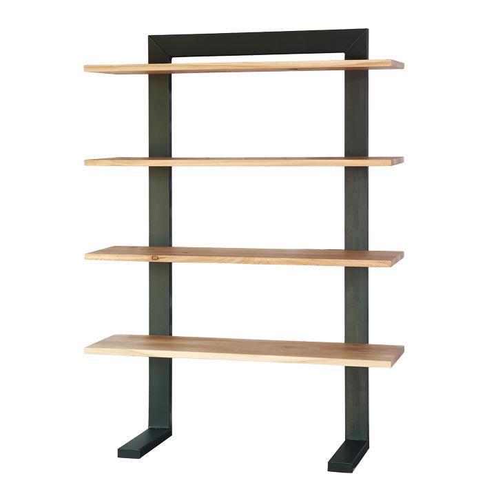 industriele kast sturdy steelrack 4 planken hout