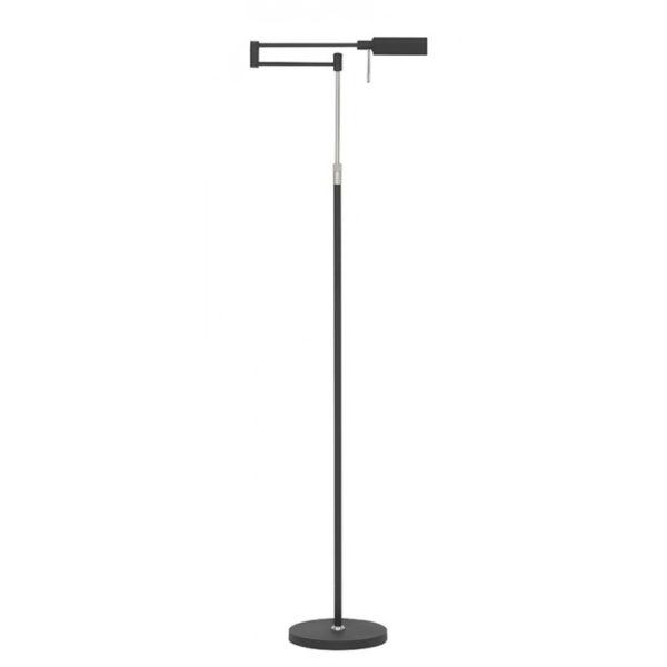 leeslamp zwart vloerlamp bari verstelbaar LED