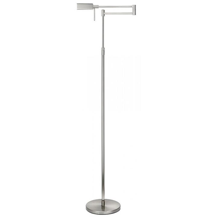 Leeslamp zilver nikkel mat verstelbaar hoogte LED