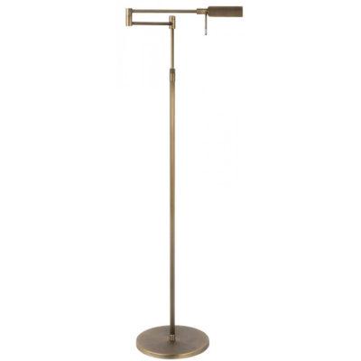 vloerlamp brons leeslamp verstelbaar LED dimbaar