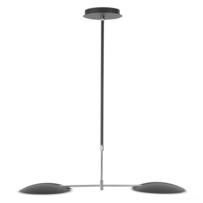 hanglamp zwart verstelbaar in hoogte LED zwart