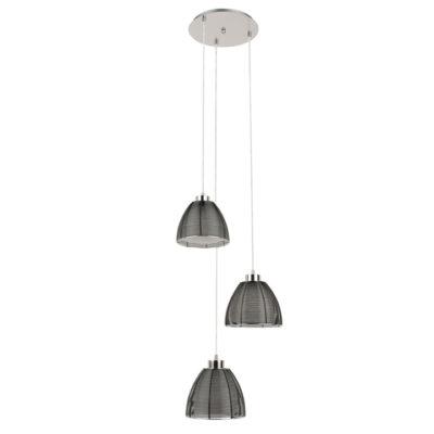hanglamp 3 lichts speels zwart draad