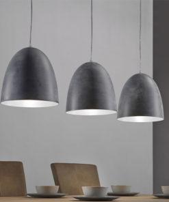 hanglamp rocky Industriële Hanglamp grijs