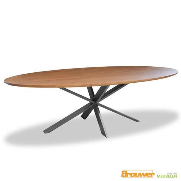 ovale tafel hout eiken