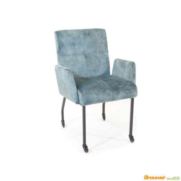 hippe-frisse-stoel-fluwelen-eetkamerstoel-stof