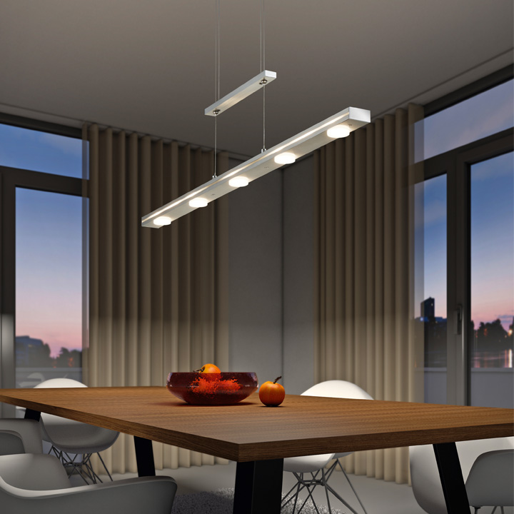 hanglamp met ingebouwde dimmer in hoogte verstelbaar wit LED