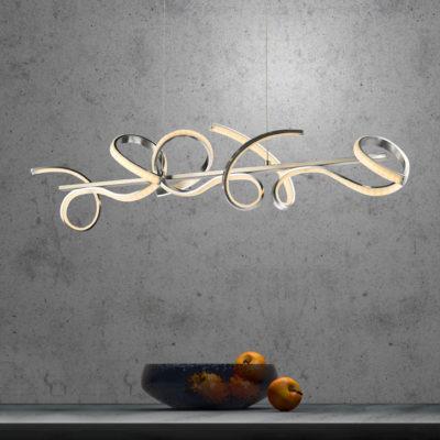 LED hanglamp krul aparte vorm