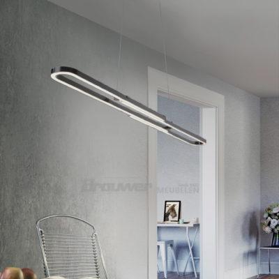 hanglamp zwart uitschuifbaar in lengte led