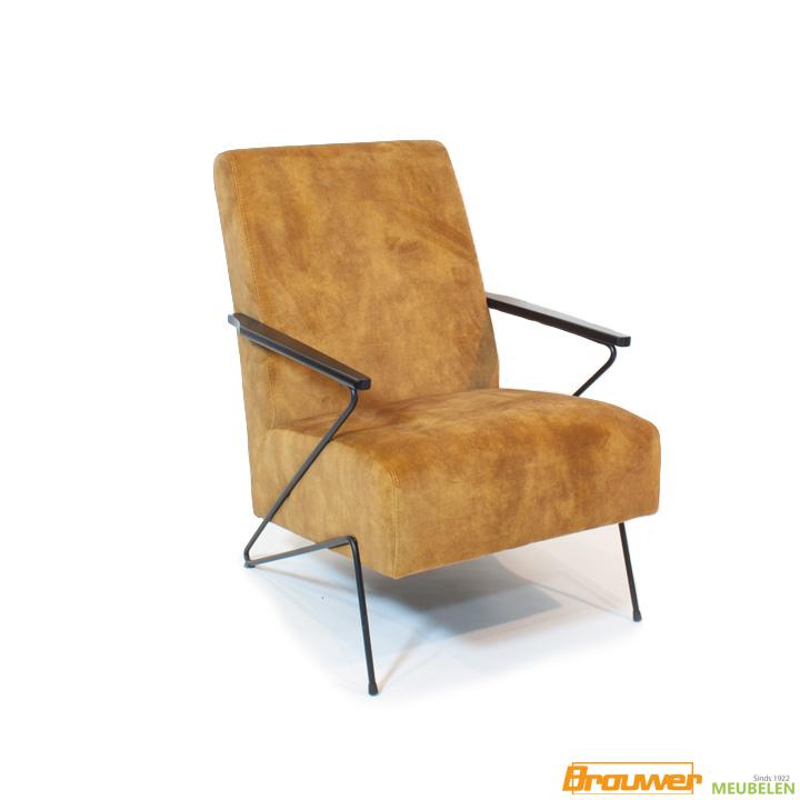 velours fauteuil design stoel oranje hippe fauteuil
