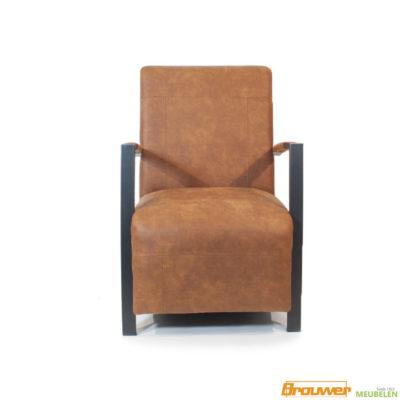 stoere cognac stoel fauteuil