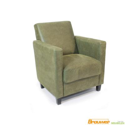 microleder fauteuil groen moss