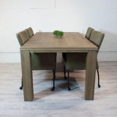 eiken tafel 180x100 gerookt massief