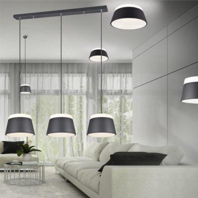 hanglamp zwart 3 kappen