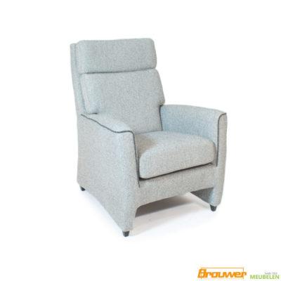 senioren fauteuil grijs met biesje