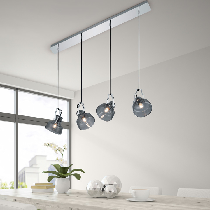 hanglamp glas zwart romantische