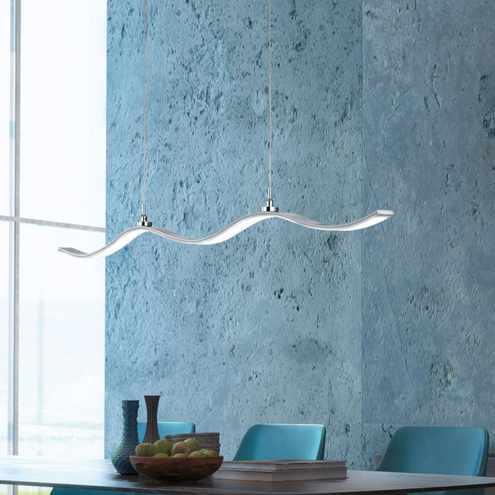 gebogen LED hanglamp krul wave LED lamp