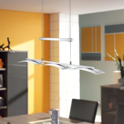 LED hanglamp nikkel mat