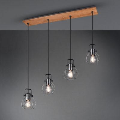 hanglamp van hout industrieel