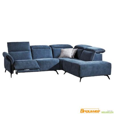 relax bank hoofdsteunen blauw verstelbaar