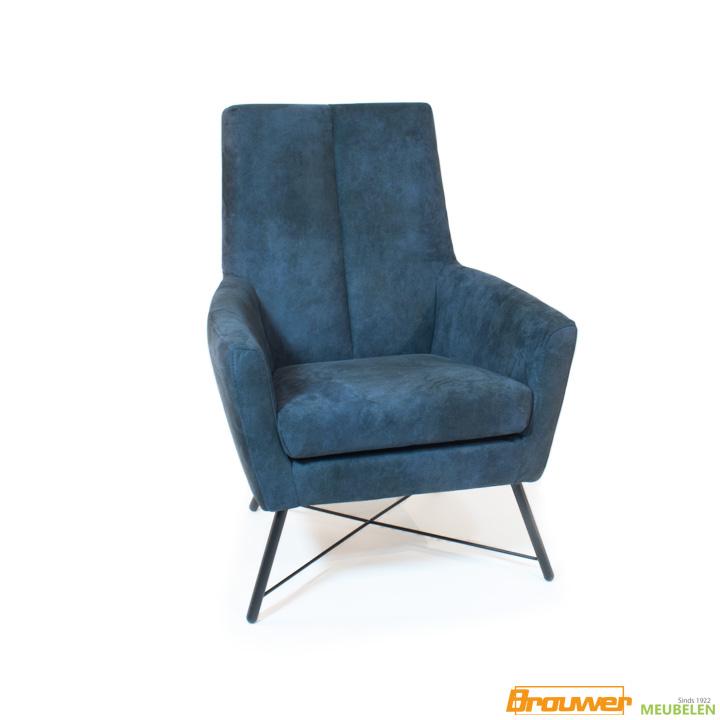 fauteuil grazz donker blauw