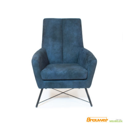 microleder fauteuil blauw