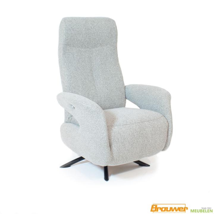 relaxfauteuil modern grijs stof