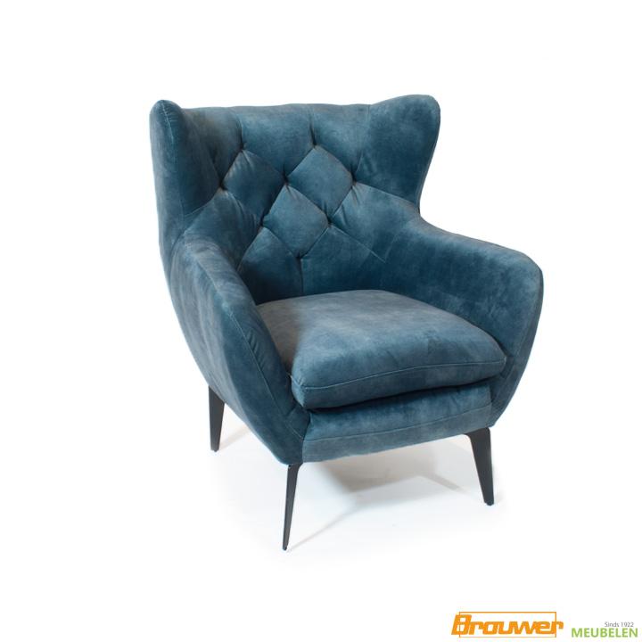 oorfauteuil velvet blauw adore towerliving