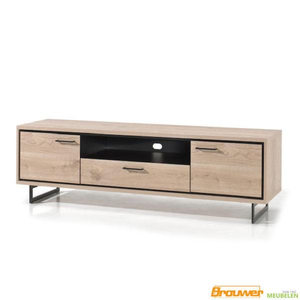 tv-meubel met 2 deuren en lade