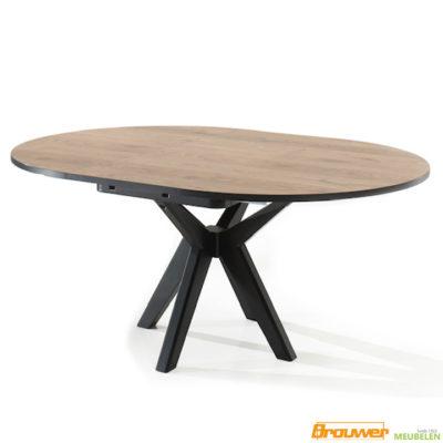 tuimeltafel rond ovaal uitschuifbare ronde tafel