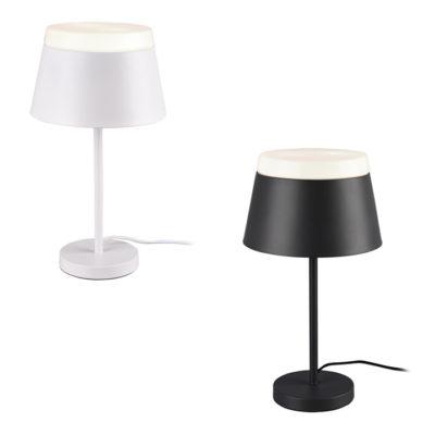 tafellamp wit zwart met kap