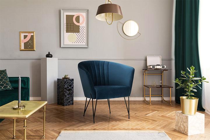 blauwe-design-fauteuil-luxe-stoel