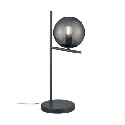 tafellamp zwart design rookglas