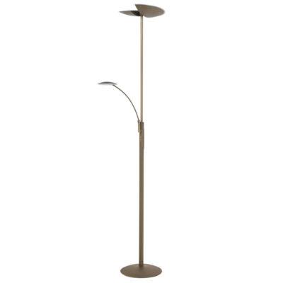 bronzen vloerlamp uplight led